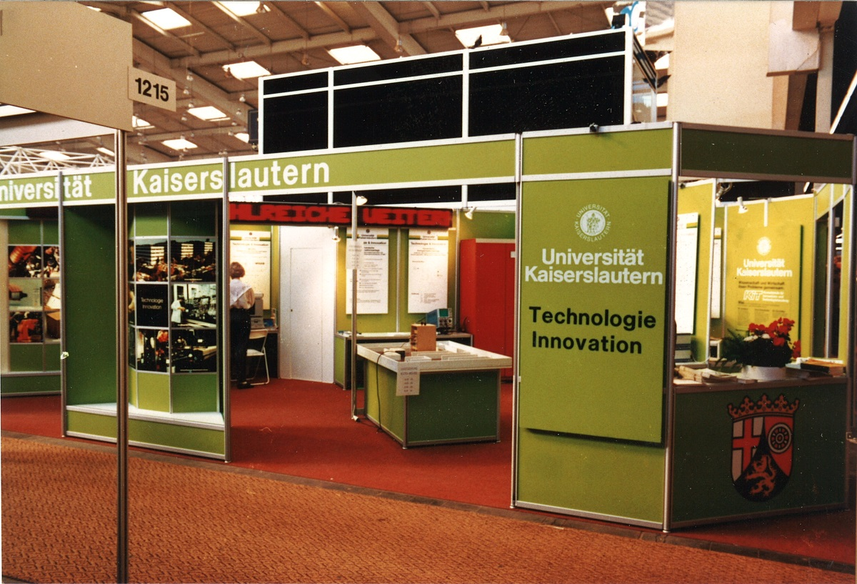 WIPOTEC - University Kaiserslautern exhibition booth
