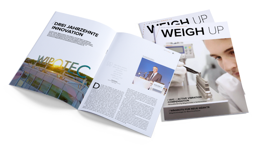 WEIGH UP - WIPOTEC Kundenmagazin
